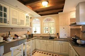 欧式田园风格厨房整体橱柜装修效果图大全