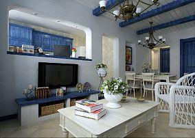 地中海风格客厅电视背景墙装修效果图大全图片