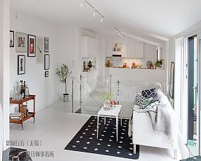 精美84平米北欧小户型客厅设计效果图