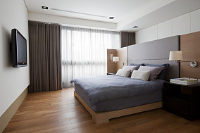 2018面积86平简约二居卧室装修实景图