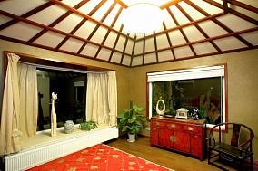 美式风格卧室飘窗装修效果图