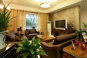 热门104平米三居客厅美式效果图