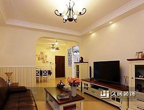 希腊地中海二居室客厅装修效果图
