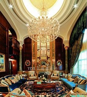 面积87平小户型客厅欧式装修实景图片大全