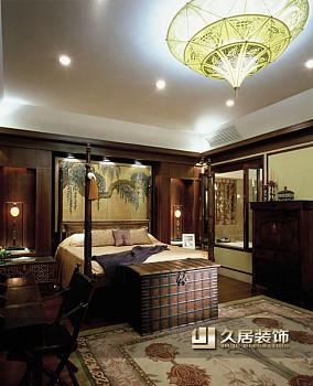 2018面积81平中式二居卧室装饰图片大全