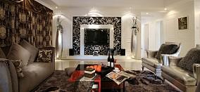 精选面积70平欧式二居客厅装修设计效果图片大全