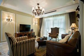 精选大小71平美式二居客厅装修实景图片大全