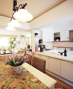 田园风格开放式厨房装修效果图大全