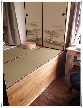 中式风格卧室榻榻米床效果图