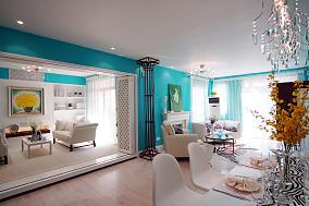 热门85平米地中海小户型客厅装修设计效果图片大全