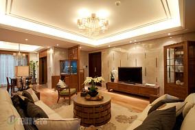2018精选面积73平小户型客厅中式装修效果图片欣赏