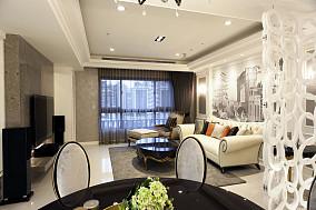 201882平米欧式小户型客厅装修设计效果图片大全