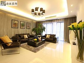 面积109平简约三居客厅设计效果图