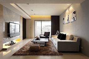 面积78平小户型客厅简约装修设计效果图