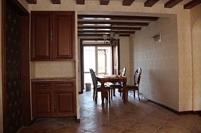 热门面积84平美式二居玄关装修实景图片