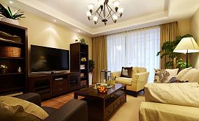 2018精选90平米美式小户型客厅装修效果图片