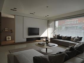 精美面积74平简约二居客厅效果图片