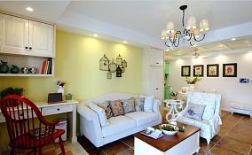 精美面积91平田园三居客厅装饰图
