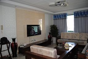 精选136平米中式复式客厅装修设计效果图片大全