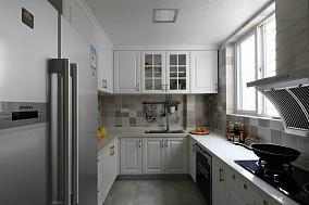 欧式田园风格厨房橱柜效果图