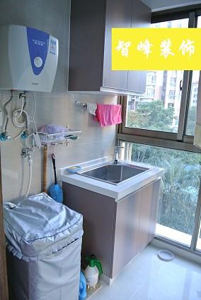 现代风格阳台洗手池效果图