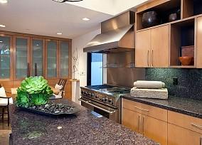 简约风格别墅厨房大理石台面效果图