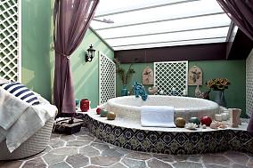 地中海风格卫生间浴池效果图