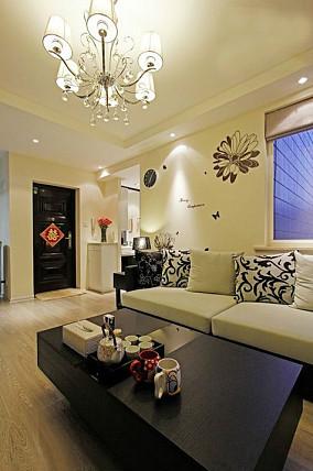 精选简约公寓客厅装修实景图片