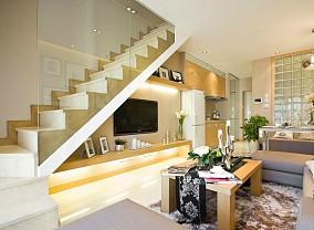 热门125平米现代复式客厅装修图片欣赏