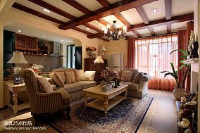 精选82平米美式小户型客厅装修图片大全