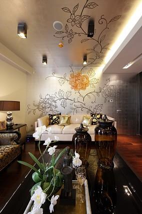 精美面积94平新古典三居客厅实景图片欣赏