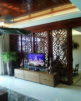 中式屏风电视墙装修效果图