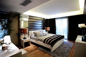 热门89平米二居卧室现代实景图片大全