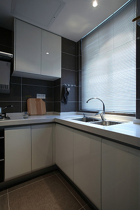 极简厨房橱柜效果图