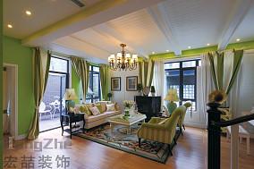 法式风格装修客厅吊顶效果图