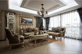 豪华欧式装修风格客厅吊顶效果图