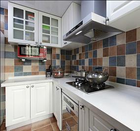 L型整体厨房橱柜效果图