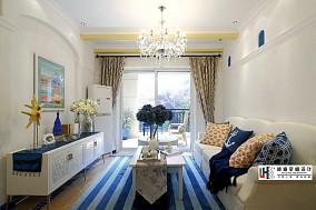 清新地中海风格客厅装修效果图欣赏