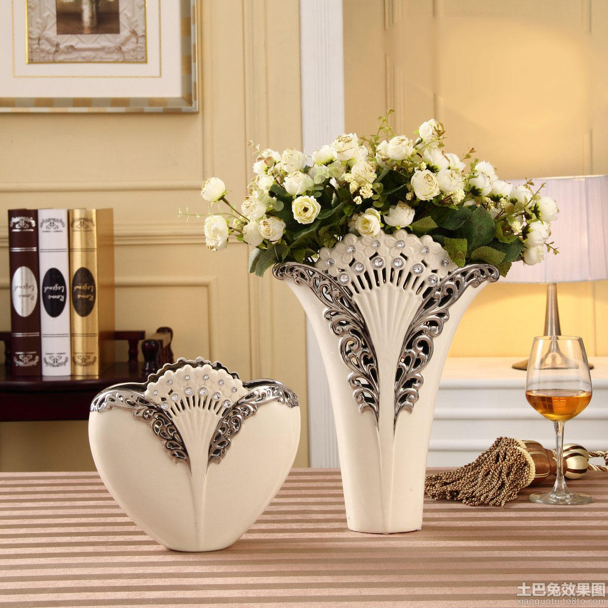 home decorating ideas with vases 简约时尚家装图片 土巴兔装修效果图 12733