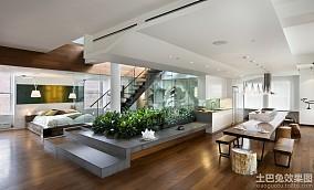 简约风格loft公寓装修效果图