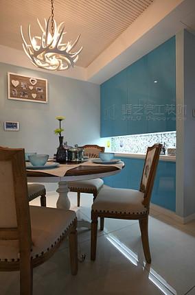 温馨地中海风格餐厅装修效果图