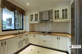 U型欧式厨房橱柜效果图