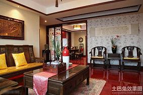 中式风格两室两厅客厅装修效果图片
