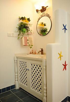 清新田园风格洗手间装修效果图