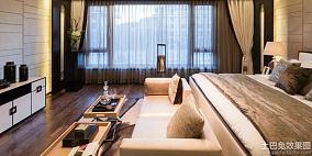 现代中式风格三室两厅卧室装修效果图