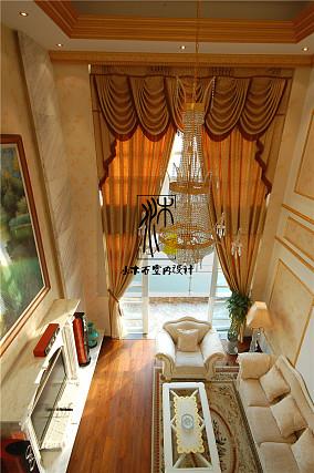 欧式别墅客厅窗帘效果图