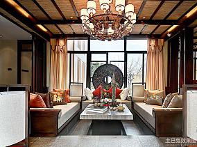 中式风格三室两厅客厅装修效果图片大全