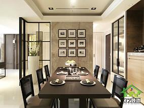 现代风装餐厅照片墙效果图