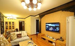 中式家装硅藻泥背景墙装修效果图大全2013图片