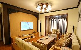 热门面积80平小户型休闲区中式装修效果图